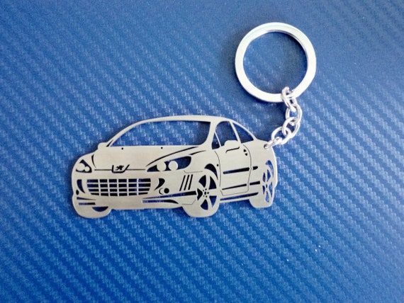 Key chain for Peugeot 407 Coupe, Personalized Keychain, Car Keychain,  Keyring for Peugeot 407, Custom Keychain, Birthday gift, Personalized