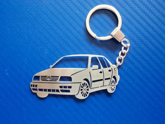 Handmade Laser Cut Gift Volkswagen Corrado Luxury Leather Keyring