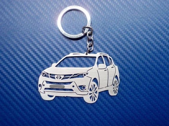 Toyota Rav4 Keyring Keychain Emblem D-4D 2.2 Le Xle Limited Awd 2.5 VVT-i III IV V Plugin Hybrid 2.0 2.5 Stainless Steel