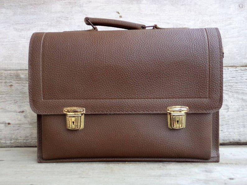 d66588b1a0 Sac cartable marron sac Documents sac cartable professeur 60 | Etsy