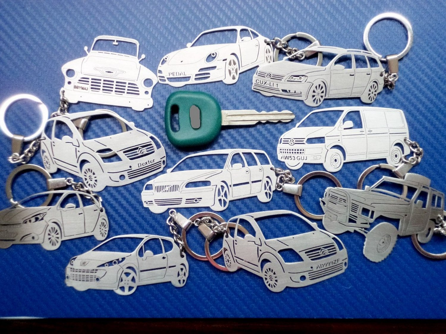 Key chain similar to Mercedes Truck, Personalized Keychain, Truck