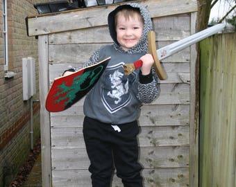 Children's knight hoodie
