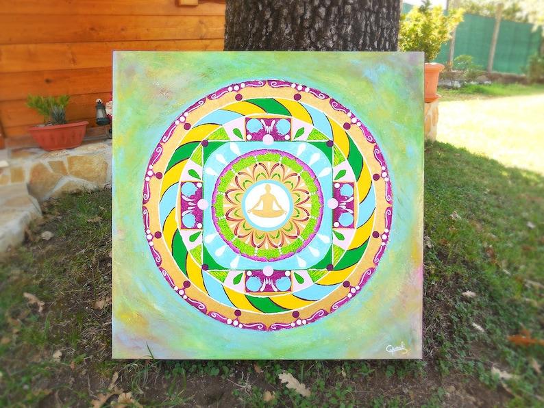 Mandala handmade for therapy meditation inner journey image 0