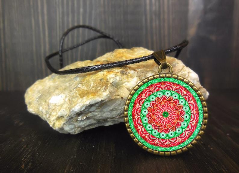 Kaleidoscope necklace with mandala locket 1 friend image 0