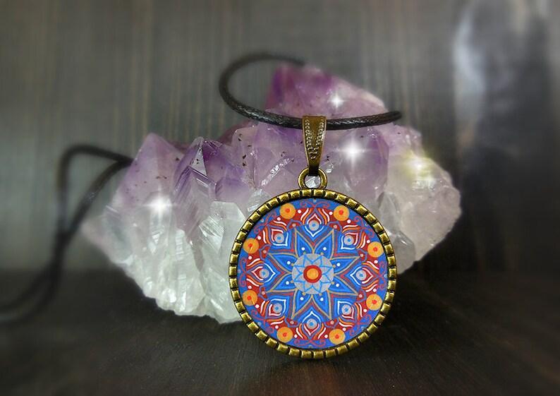 Mandala necklace wellbeing gifts waking consciousness yoga image 0