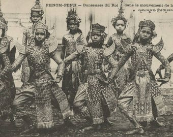 Antique Postcard - Khmer Royal Dancers