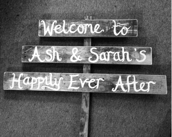 Wedding Sign Triple