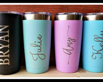 personalized travel mug etsy