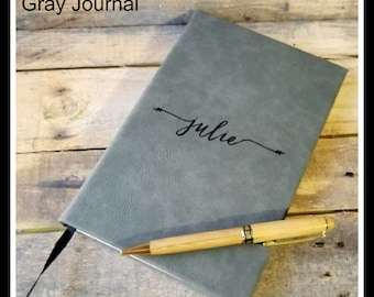 Personalized Leather Journal, Engraved Journal, Lined Journal, Personalized Notebook, Customized Gift, Custom Leatherette Journal