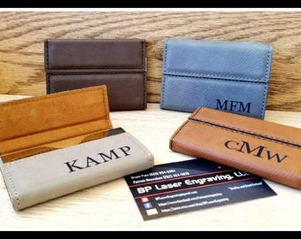 Business card holder etsy custom leatherette leather business card holder boss gift personalized card case corporate colourmoves
