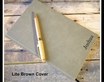 Monogrammed Leather Journal, Personalized Journal, Lined Journal, Personalized Notebook, Customized Leather Gift, Custom Leatherette Journal