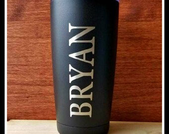 Travel Mug, Personalized Coffee Mug, Custom Monogrammed, Groomsmen Gift, Travel Coffee Mug, Insulated Travel Cup, Tumbler, Bridesmaid Gifts