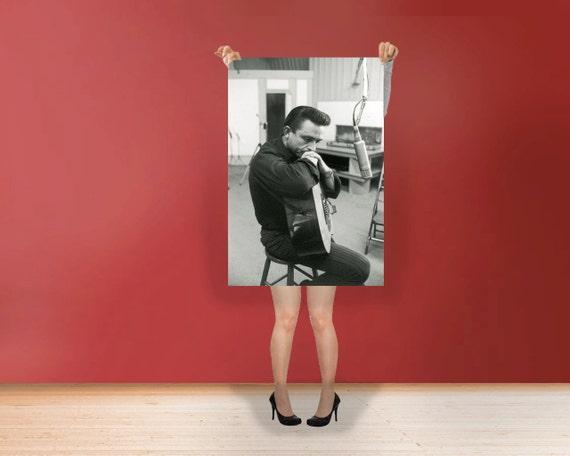 johnny cash Wall Art Print Poster Rolled Cotton Matt Canvas | Etsy