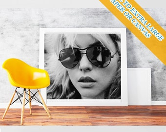 Blondie debbie harry - Movie Wall Art Print POster Rolled Cotton Matt Canvas  Hollywood's Golden Age Famous Film Stars Photo