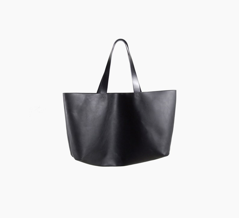 6c21d91f78 Large Leather Tote Leather Tote Bag Black tote bag Everyday