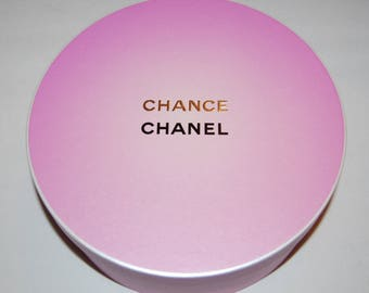 Authentic CHANEL Chance Large Pink Round Gift Box NEW Collectible!