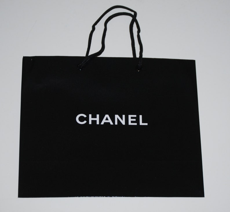 f0e43b5b3466 Lot of 3 Authentic CHANEL Black Medium Signature Shopping / | Etsy
