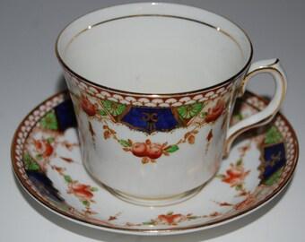 Vintage ROSINA Bone China Tea Cup and Saucer #3834