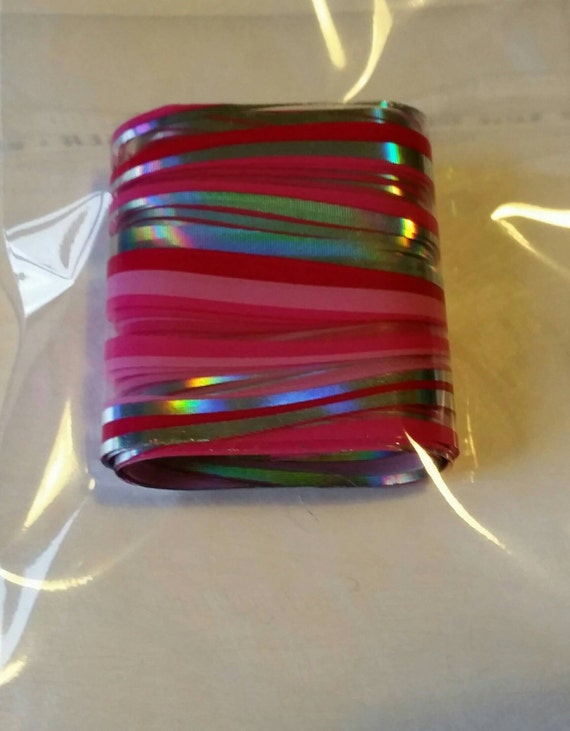 Neon Pink/Silver Lines nail foil for nail art- 1m x 4cm