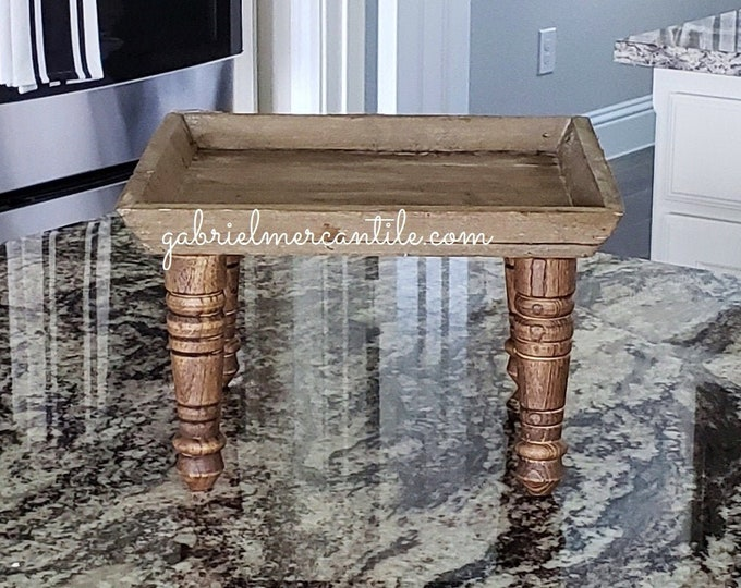 Reclaimed Wood Riser Stand. Wood Riser. Wood Stand. Wood Pedestal. Wood Tray. Farmhouse. Rae Dunn. Rustic. Distressed.