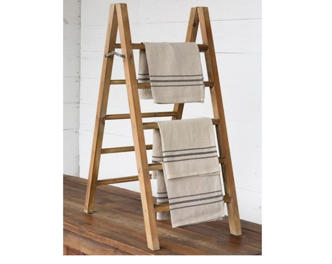 Wooden Tabletop Display Ladder. Farmhouse Ladder.