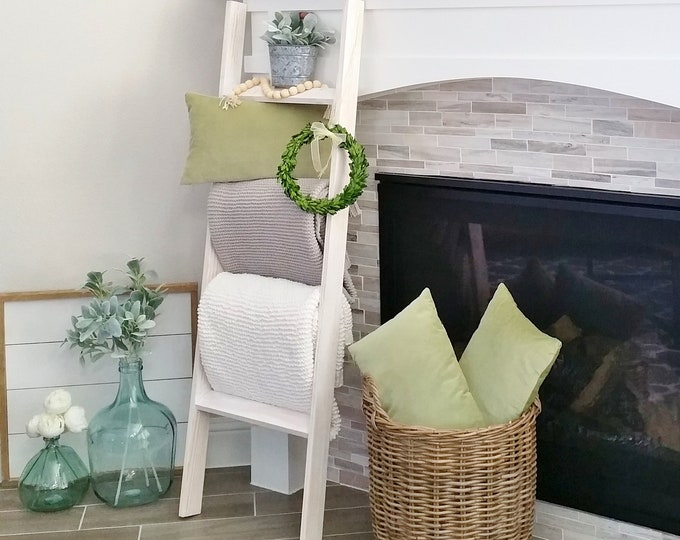 Custom Hand-Crafted Wood Blanket Ladder