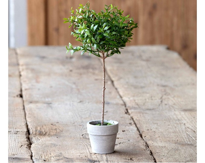 Miniature Artificial Boxwood Topiary