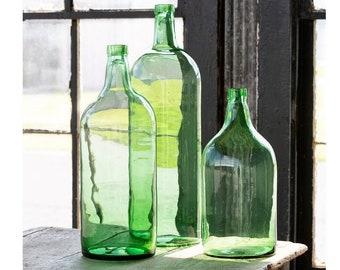 Recycled Glass Wine Bottle Vase.