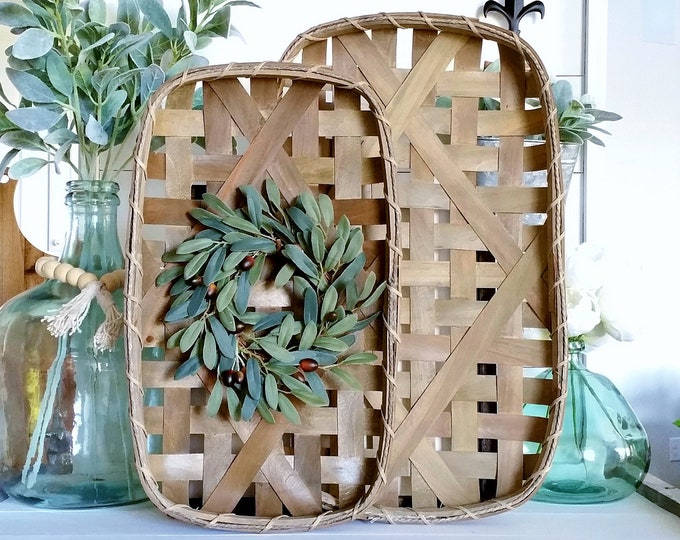 Olives Tobacco Basket Wreath.
