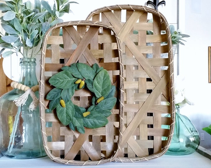 Magnolia Tobacco Basket Wreath.