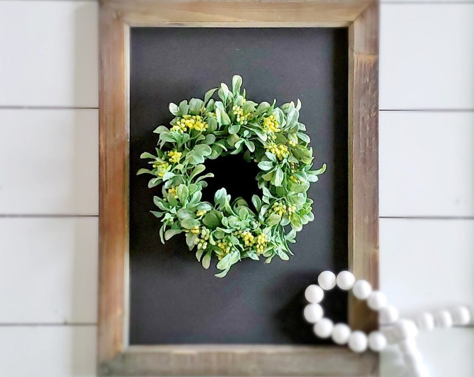 MINI Boxwood & Berries Wreath.