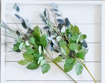 Set of Artificial Mix Eucalyptus Stems