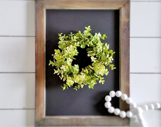 MINI Light Green Eucalyptus Wreath.