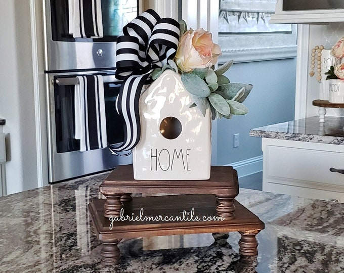 Decorated Ceramic Bird House. Farmhouse Decor. Rae Dunn.