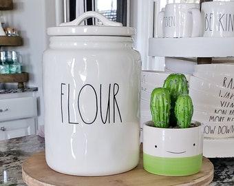 Rae Dunn Large Letter Flour Canister