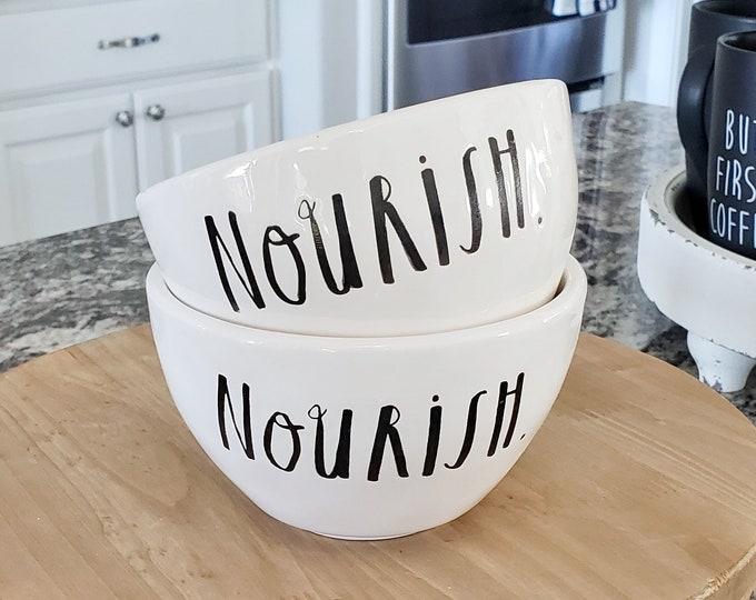 Rae Dunn Boutique:  Bowl  Nourish