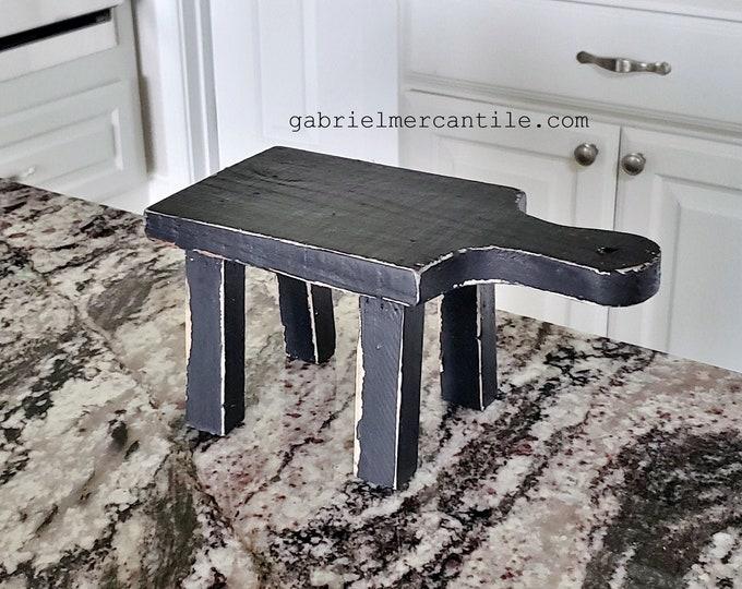 Mini Cutting Board Wood Riser. Wood Riser. Wood Stand. Wood Pedestal. Wood Tray. Farmhouse. Rae Dunn. Rustic. Distressed.