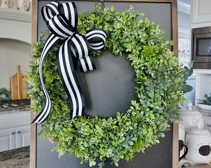 Boxwood & Berries Grapevine Wreath.