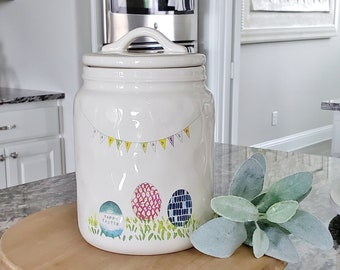 Rae Dunn Easter Egg Banner Cookie Jar