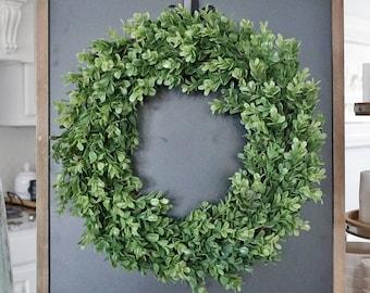 Boxwood Grapevine Wreath.