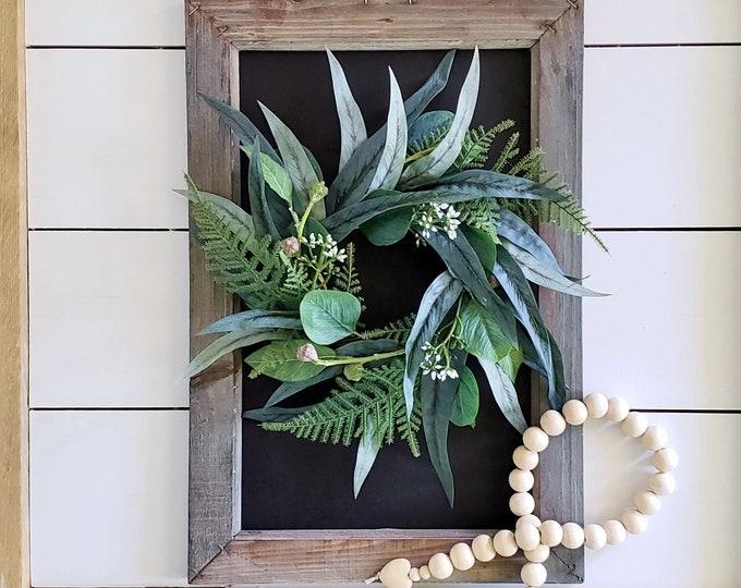 MINI Mixed Eucalyptus Wreath.