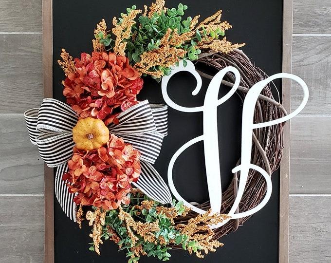 Fall Hydrangea Wreath.