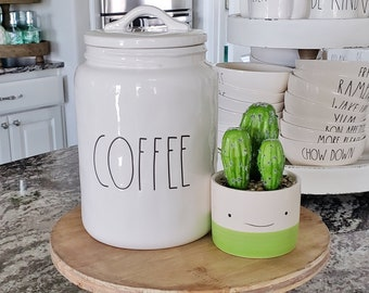 Rae Dunn Artisan Clay - COFFEE Canister