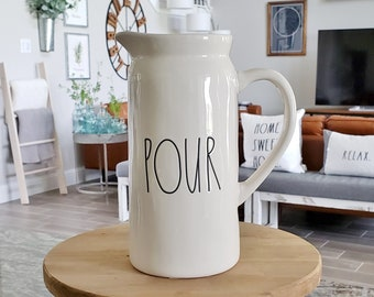 Rae Dunn Large Letter: Pour Pitcher