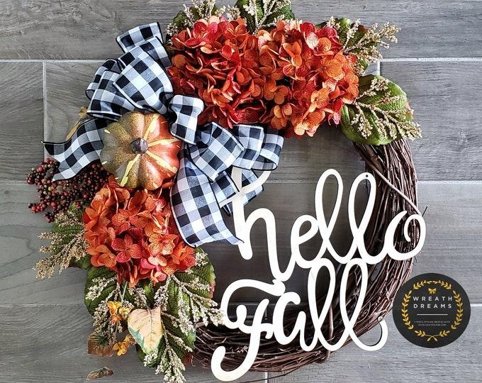 Fall Grapevine Wreath. Fall  Wreath. Autumn Wreath. Winter Wreath. Door Wreath. Monogram Wreath. Grapevine Wreath. Artificial Wreath.