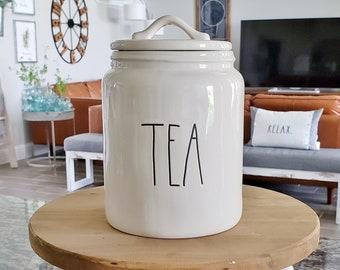 """Rae Dunn Large Letter: """"Tea"""" Canister"""