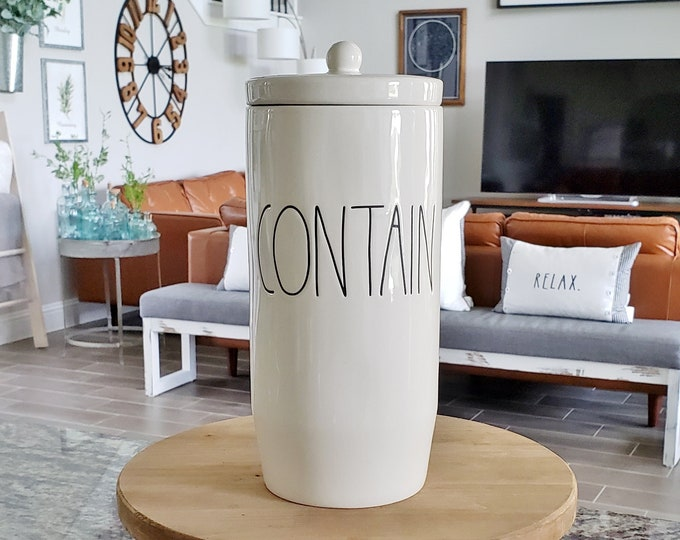Rae Dunn Large Letter: Tall Contain Canister