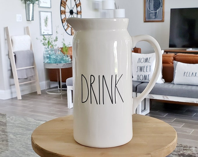 Rae Dunn Large Letter: Drink Pitcher