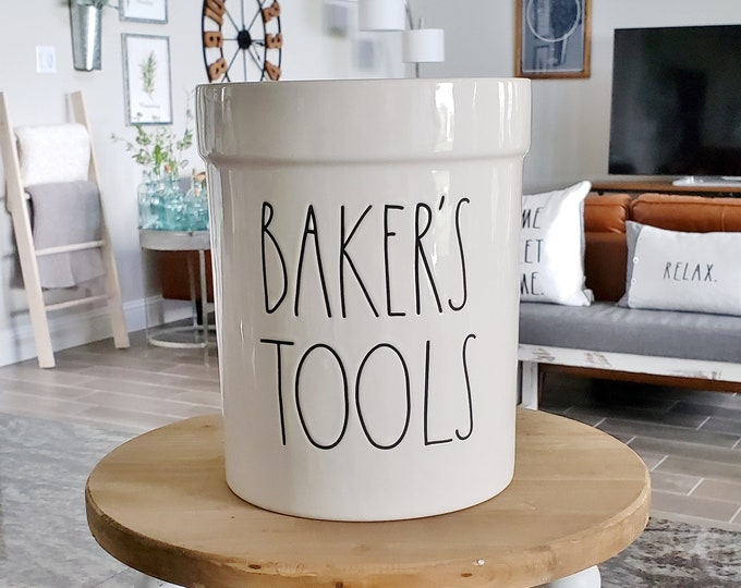 Rae Dunn Large Letter: Baker's Tool Crock Holder