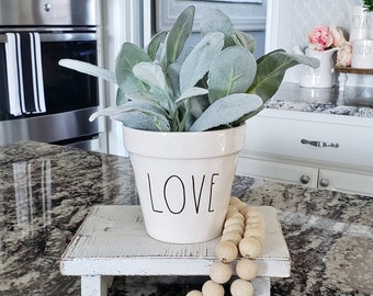 Ceramic Potted Lambs Ear - LOVE